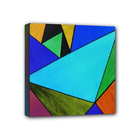 Abstract Mini Canvas 4  x 4  (Framed)
