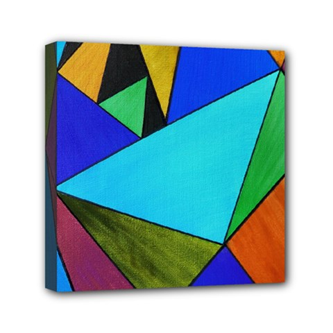 Abstract Mini Canvas 6  x 6  (Framed)