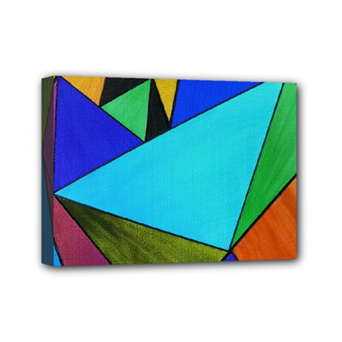 Abstract Mini Canvas 7  x 5  (Framed)
