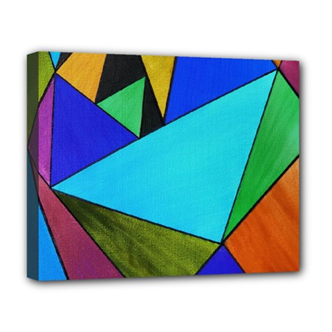 Abstract Deluxe Canvas 20  x 16  (Framed)