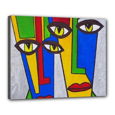 Face Canvas 20  x 16  (Framed)