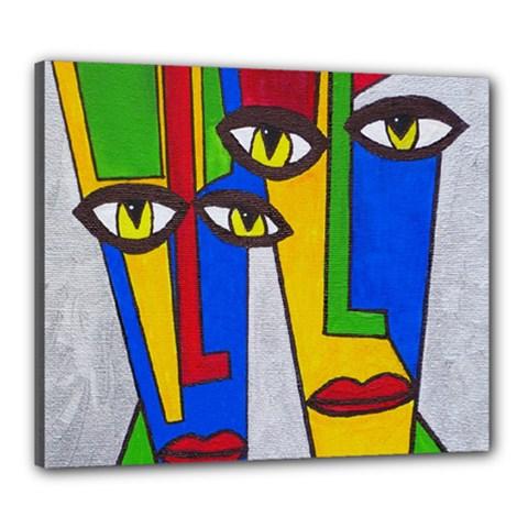 Face Canvas 24  x 20  (Framed)