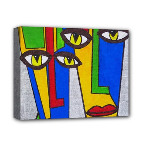 Face Deluxe Canvas 14  x 11  (Framed)