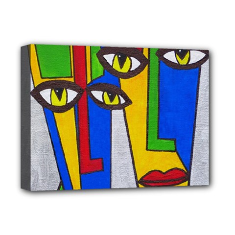 Face Deluxe Canvas 16  x 12  (Framed)