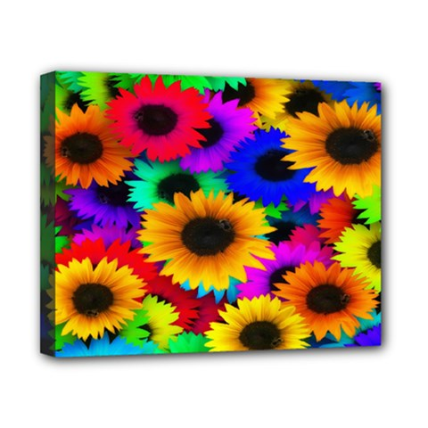 Colorful Sunflowers Canvas 10  x 8  (Framed)