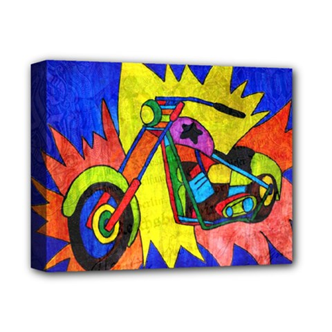 Chopper Deluxe Canvas 14  X 11  (framed)