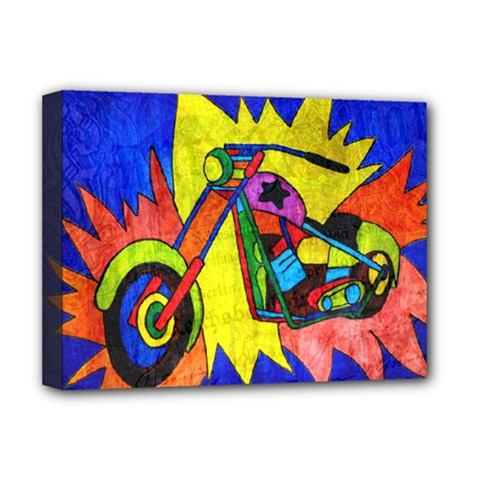 Chopper Deluxe Canvas 16  x 12  (Framed)