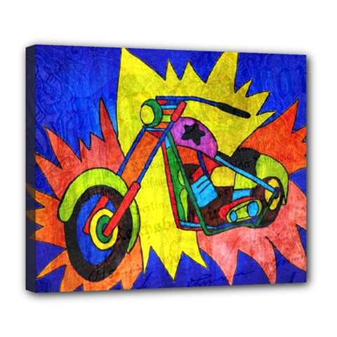 Chopper Deluxe Canvas 24  X 20  (framed)
