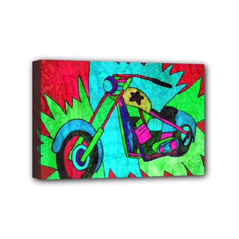 Chopper Mini Canvas 6  x 4  (Framed)