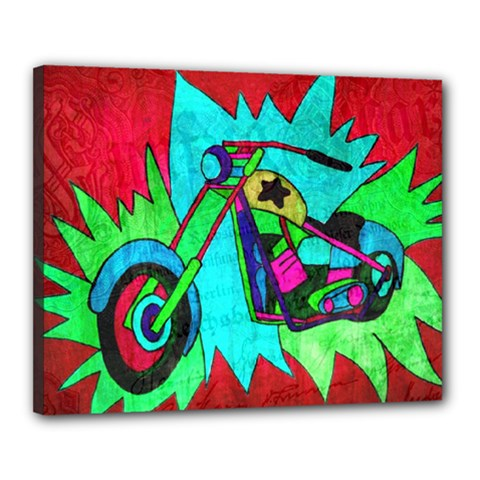 Chopper Canvas 20  X 16  (framed)