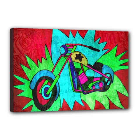 Chopper Canvas 18  x 12  (Framed)