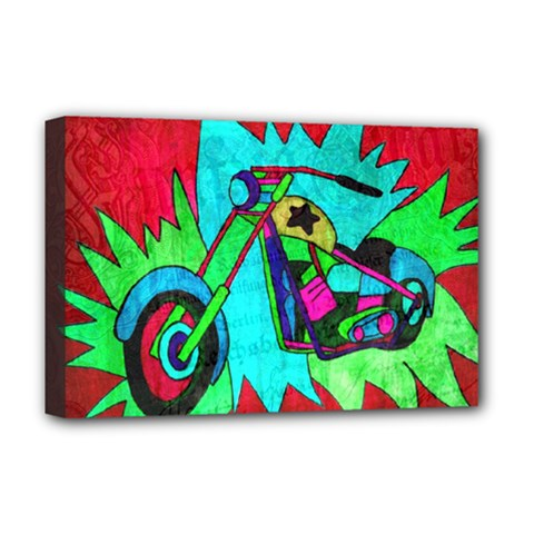 Chopper Deluxe Canvas 18  x 12  (Framed)