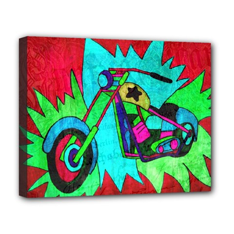 Chopper Deluxe Canvas 20  x 16  (Framed)
