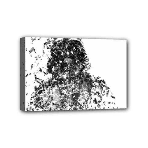 Darth Vader Mini Canvas 6  x 4  (Framed)