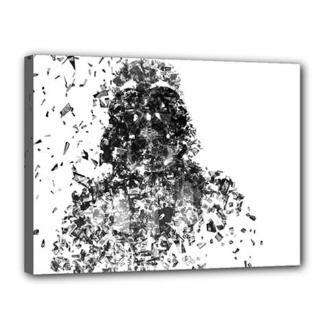 Darth Vader Canvas 16  X 12  (framed)
