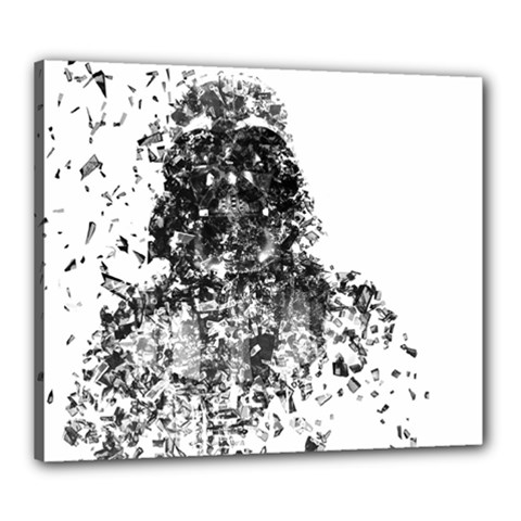 Darth Vader Canvas 24  X 20  (framed)