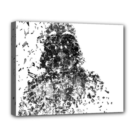 Darth Vader Deluxe Canvas 20  x 16  (Framed)