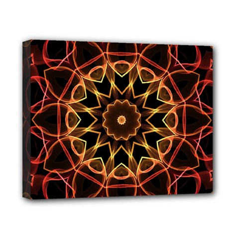 Yellow And Red Mandala Canvas 10  X 8  (framed)