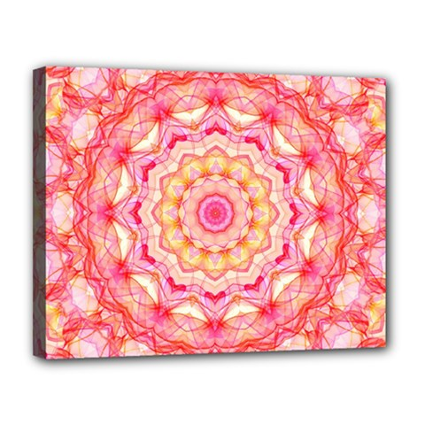 Yellow Pink Romance Canvas 14  x 11  (Framed)