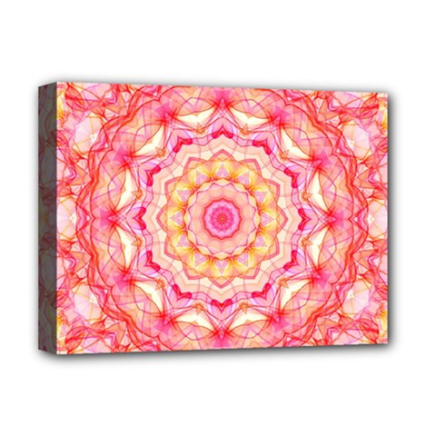 Yellow Pink Romance Deluxe Canvas 16  X 12  (framed)