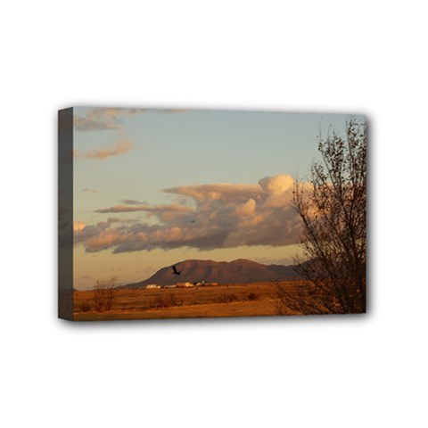 sunrise, edgewood nm Mini Canvas 6  x 4  (Stretched)