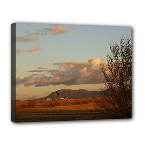 sunrise, edgewood nm Canvas 14  x 11  (Stretched)
