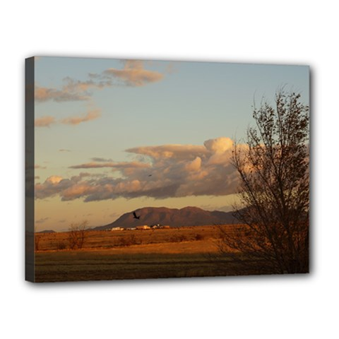 Sunrise, Edgewood Nm Canvas 16  X 12  (stretched)
