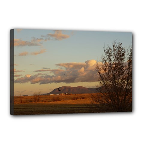 sunrise, edgewood nm Canvas 18  x 12  (Stretched)