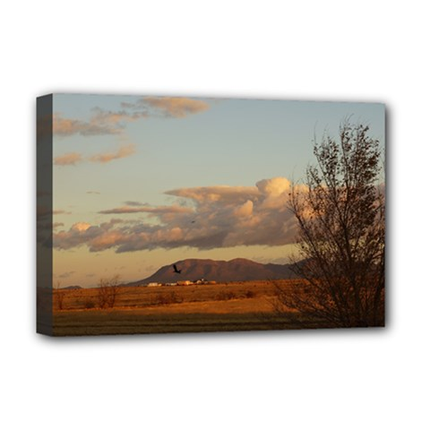 Sunrise, Edgewood Nm Deluxe Canvas 18  X 12  (stretched)