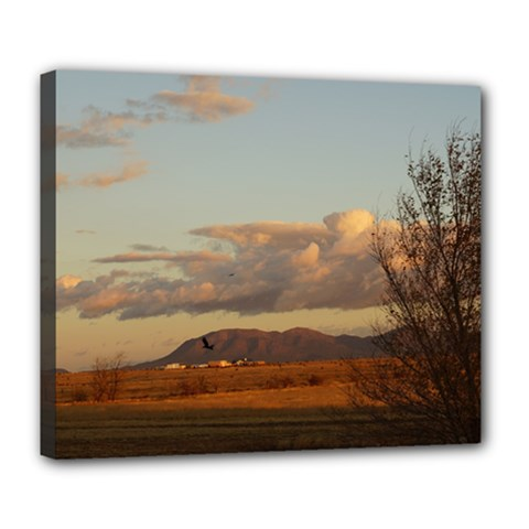 Sunrise, Edgewood Nm Deluxe Canvas 24  X 20  (stretched)