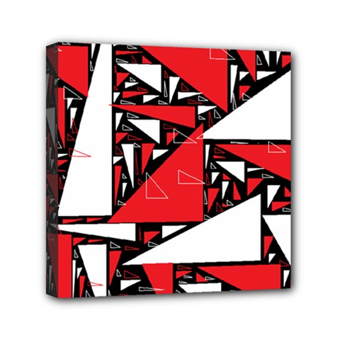 Titillating Triangles Mini Canvas 6  x 6  (Framed)