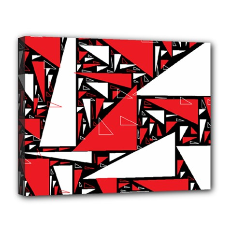 Titillating Triangles Canvas 14  x 11  (Framed)