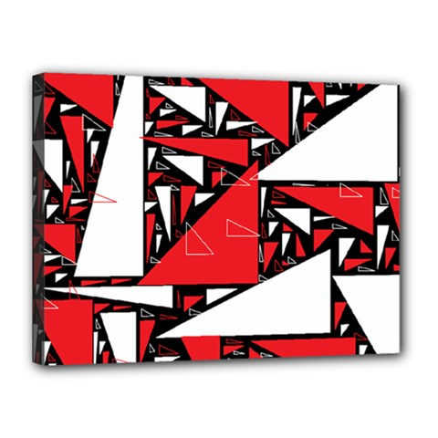 Titillating Triangles Canvas 16  x 12  (Framed)