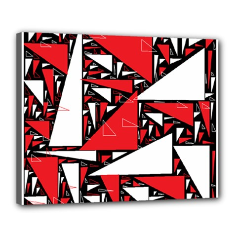 Titillating Triangles Canvas 20  x 16  (Framed)