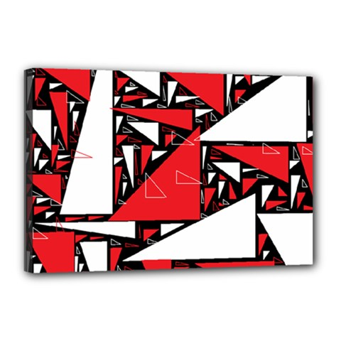 Titillating Triangles Canvas 18  X 12  (framed)