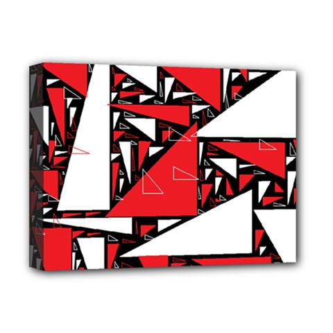Titillating Triangles Deluxe Canvas 16  x 12  (Framed)