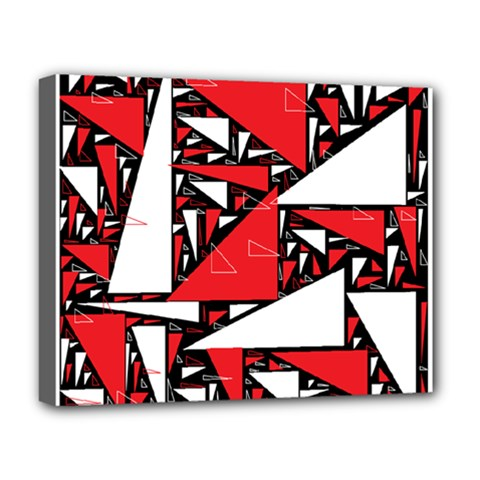 Titillating Triangles Deluxe Canvas 20  X 16  (framed)