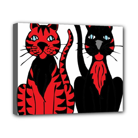 Cool Cats Canvas 10  x 8  (Framed)