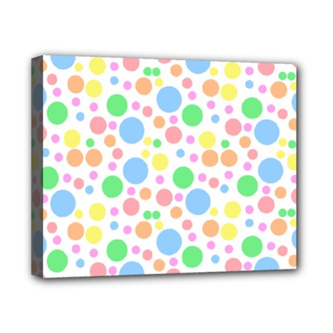 Pastel Bubbles Canvas 10  x 8  (Framed)