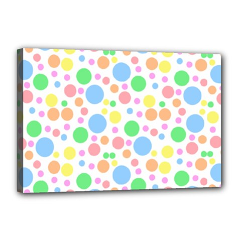 Pastel Bubbles Canvas 18  x 12  (Framed)