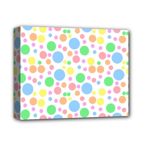 Pastel Bubbles Deluxe Canvas 14  x 11  (Framed)