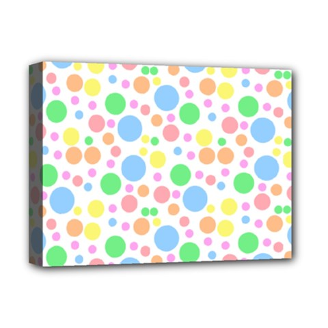 Pastel Bubbles Deluxe Canvas 16  X 12  (framed)