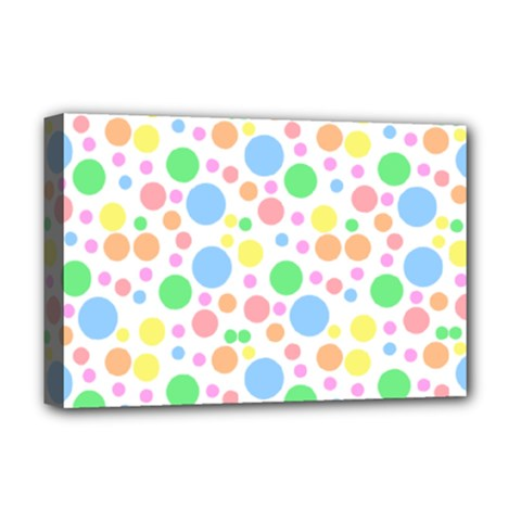Pastel Bubbles Deluxe Canvas 18  x 12  (Framed)