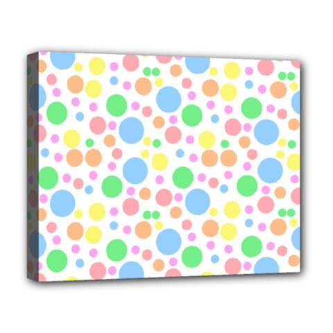 Pastel Bubbles Deluxe Canvas 20  x 16  (Framed)
