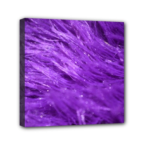 Purple Tresses Mini Canvas 6  x 6  (Framed)
