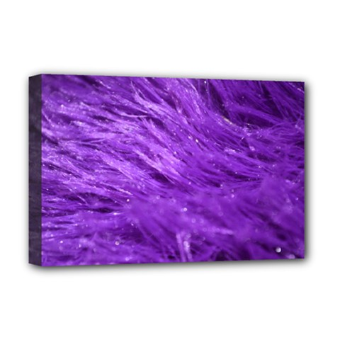 Purple Tresses Deluxe Canvas 18  x 12  (Framed)