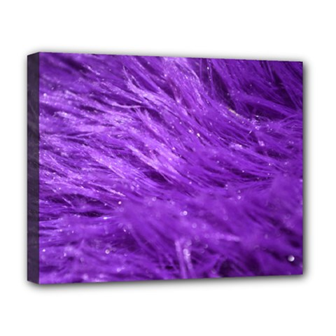 Purple Tresses Deluxe Canvas 20  x 16  (Framed)