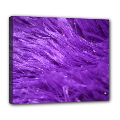 Purple Tresses Deluxe Canvas 24  x 20  (Framed)