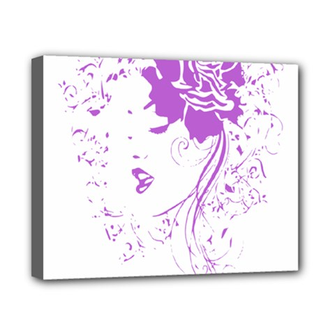 Purple Woman Of Chronic Pain Canvas 10  X 8  (framed)