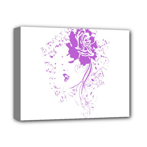 Purple Woman of Chronic Pain Deluxe Canvas 14  x 11  (Framed)